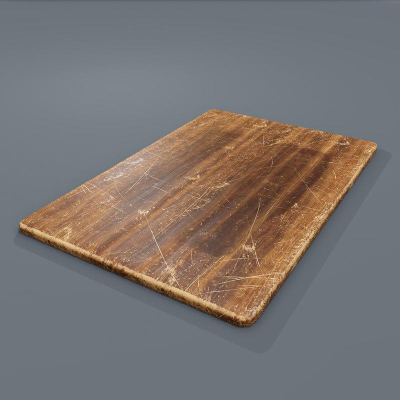 Wooden Cutting Board 3D Model