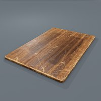 wooden cutting board 3D model