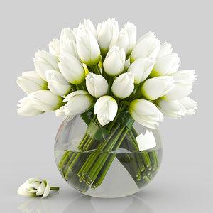 3D bouquet tulips