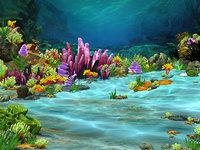 sea bubbles fishes 3D model