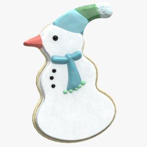 snowman cookie 3D model