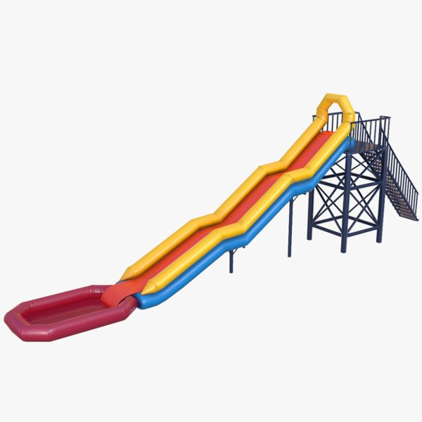 3D waterslide water slide