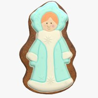 gingerbread snow maiden model