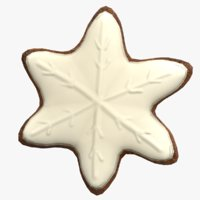 3D model gingerbread star