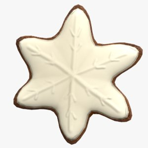 3D model gingerbread star