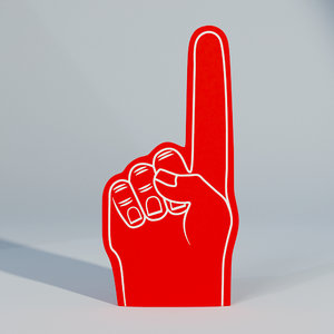 3D sample fan foam finger model