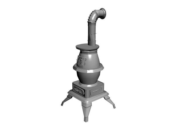 potbelly stove 3D model