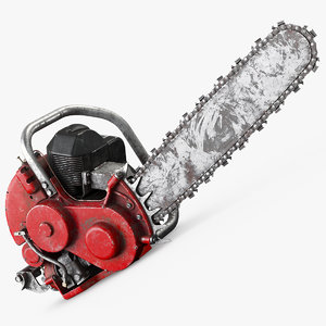 3D chainsaw old saw