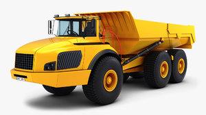 generic articulated dump truck 3D model