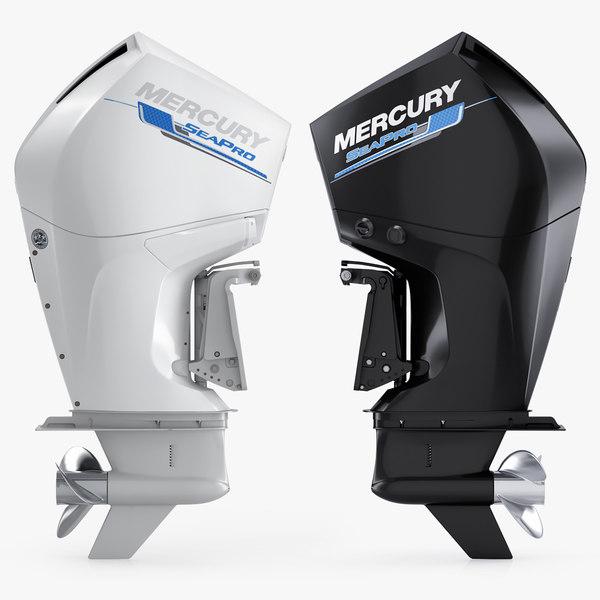3D model mercuty 300 cms outboard motor