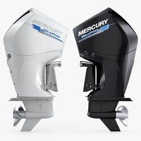 3D model mercuty 300 cms outboard motor