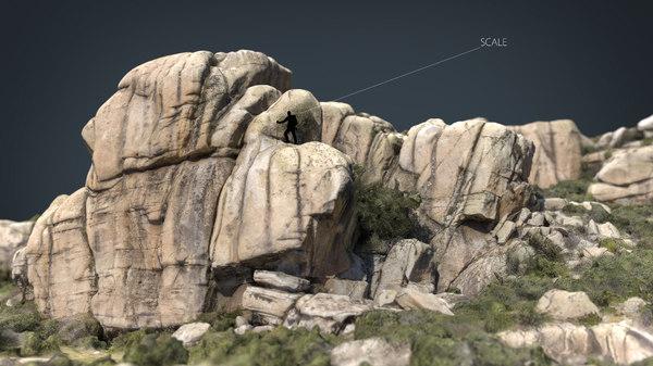 3D mountain rocks 9 model