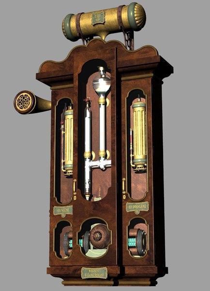 steampunk machine 3 3D model