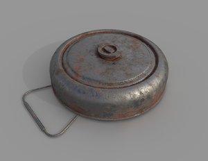 landmine war 3D model