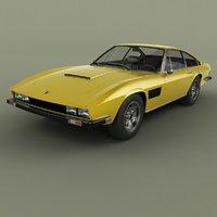 1972 monteverdi berlinetta 3D model