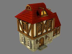 fantasy medieval house 3D