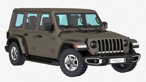 3D jeep wrangler sahara unlimited