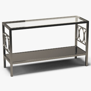 rectangle console table metal 3D