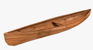 3D canoe rowing