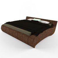 3D bed blanket pillows model