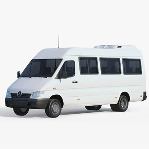 3D mercedes-benz sprinter minibus