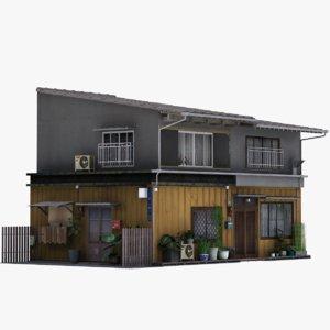 tokyo townhouse building 3D