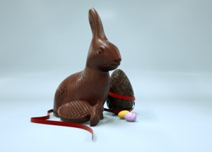 chocolate easter eggs 3D
