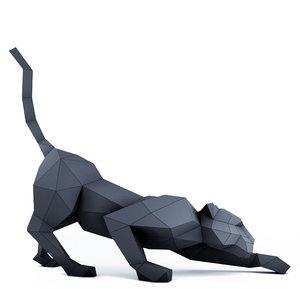 3D panther papercraft model