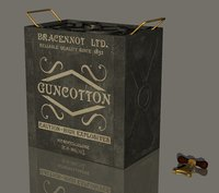 gun cotton case 3D model