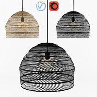 Wicker Hanging Lamp - HK living