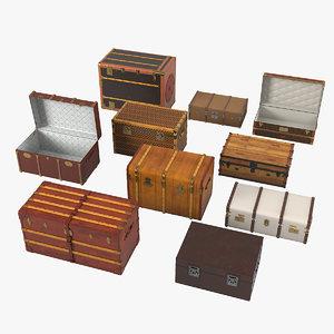 vintage trunk set model