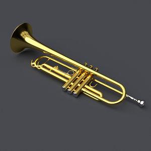 trumpet modeled blender 3ds