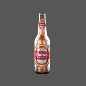 3D glass bottle beer