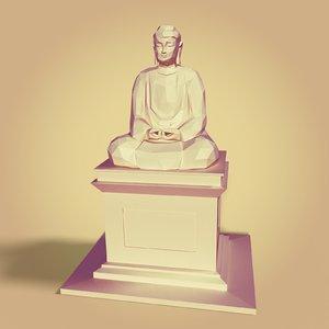 3D buddha statue model
