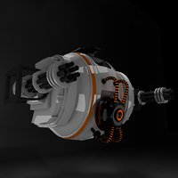 3D sci-fi drone