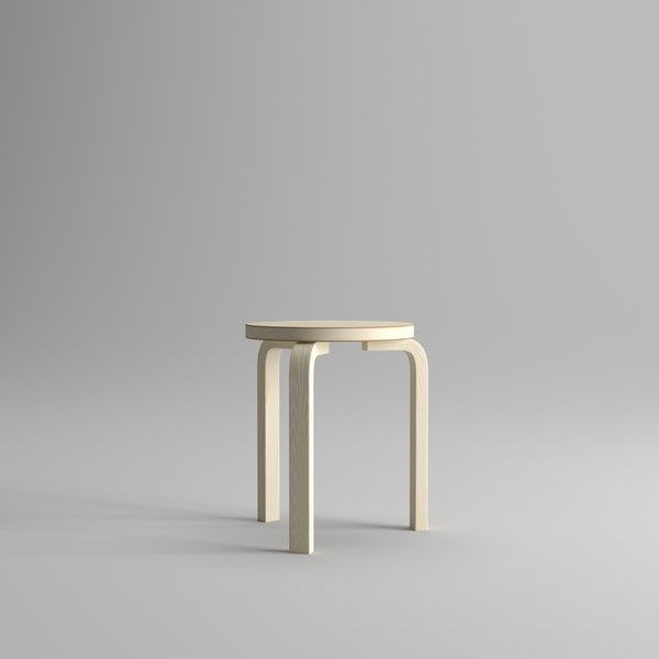 3D alvar stool 60 furniture model