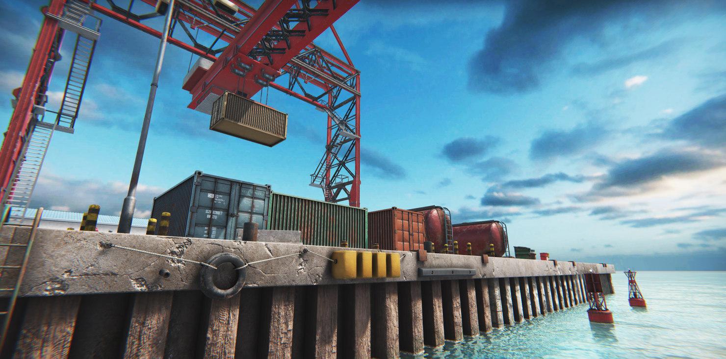 3D module based harbor creator model