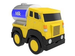 milk tanker 3D