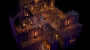 3D dungeon model