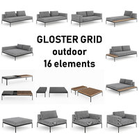 Gloster Grid Outdoor Lounge Pack