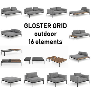 3D gloster grid lounge