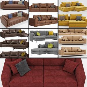 3D calligaris sofa