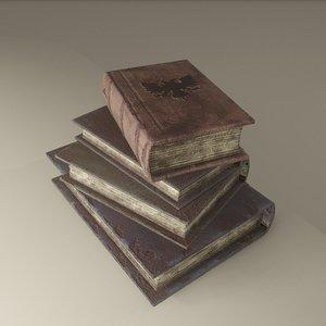 medieval book stack model