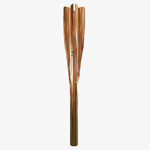 3D model tokyo 2020 olympic torch
