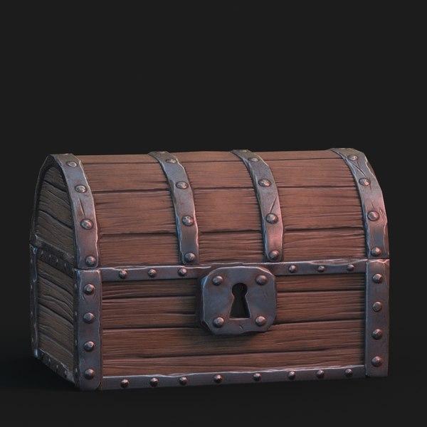 3D fantasy chest