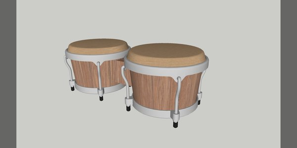 3D bongoes instrument music model