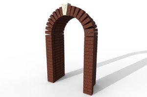 3D brick arch
