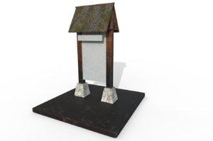 3D model bulletin board