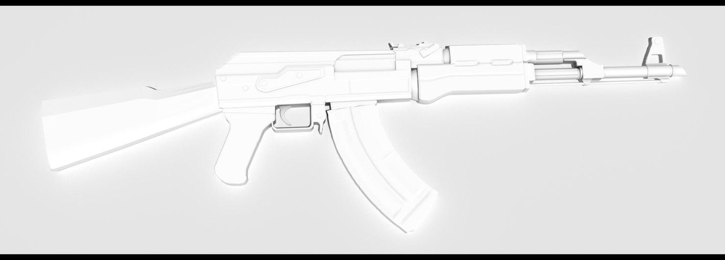 3D model ak47 kit