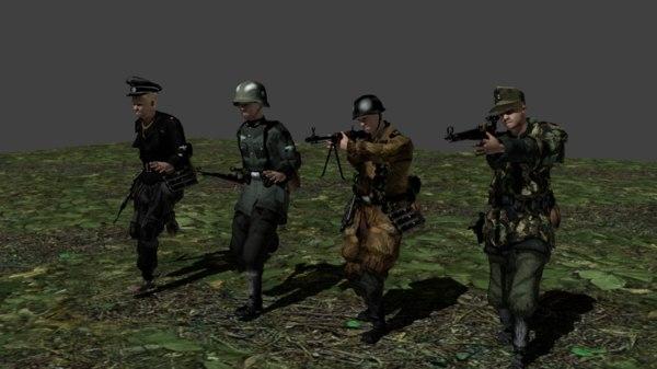 german soldiers kit 3D model